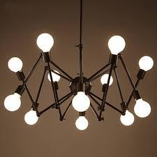 office chandelier lighting. delighful chandelier american bar restaurant loft black lights office iron spider chandelier  with 12 heads lighting g