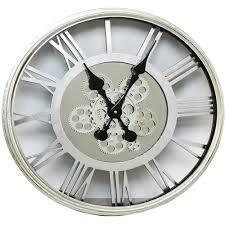 roman numeral round clog clog wall clock