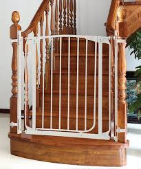 love this white banister gate adapter