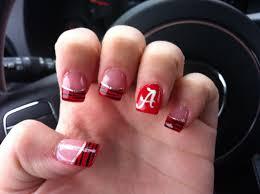 Alabama Nail Art Designs Alabama Nails Alabama Nails Tinas Nails Football Nails