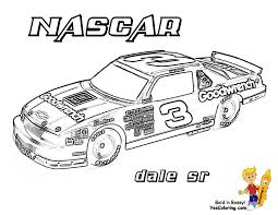 Nascar Dale Sr Race Car 3 At Coloring Pages Book For Kids Boys