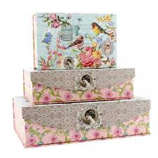 Decorative Storage Box Sets Set of three decorative storage boxes A lovely way to store 23