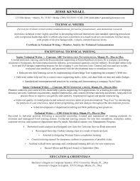 Tech Resume Template Free Sample Technical Writer Sample Resumes