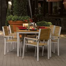 oxford garden travira 7 piece dining set table and armchairs teak teak brown size 7 piece