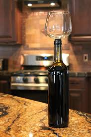 wine glass that attaches to the bottle so you could drink straight