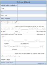Scrivener Resume Template Blank Affidavit Form Example Mughals 18
