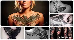 значение тату ворон пример на фото Tattoo Photoru