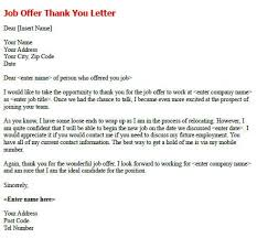 Thanks For Offer Letter Thanks Letter For Job Offer Rome Fontanacountryinn Com