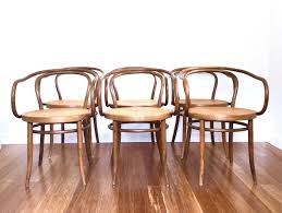 thonet bentwood chair vintage graceful stendig arm chairs set of cane seats