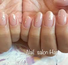 ピンクベージュグリッターネイル Nail Salon Hana