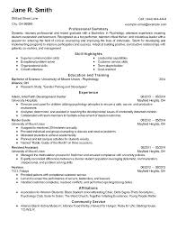 Psychology Resume Examples Interesting Psychology Internship Resumes Goalgoodwinmetalsco