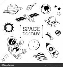 Space Doodle Hand Drawing Styles Of Space Stock Vector