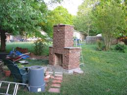 gallery for outdoor brick fireplace diy