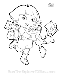 Small Picture Dora Coloring Pages Dora Coloring Pages Backpack Diego Boots