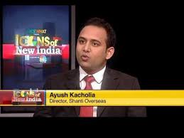 Image result for icons of new india cnbc tv18 shanti overseas