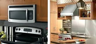 above oven microwave. Installing Microwave Above Stove Over Range With Oven Ideas V