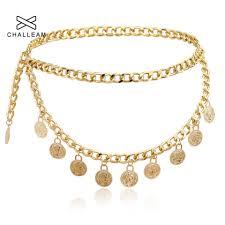 Gold Waist Chain Designs Women Gold Coin Belt Female Luxury Designer Brand Metal Tassel Pendant Ladies Silver Golden Waist Chain Belts For Dress 141