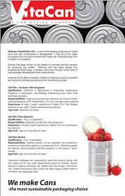 vitacan industries job circular com