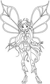 Flora Sophix Coloring Page By Icantunloveyou Coloring Books Winx