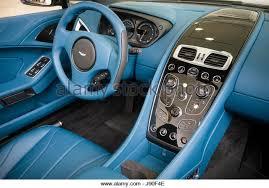 aston martin vanquish interior blue. a customised interior of and aston martin vanquish blue i