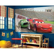 Lightning Mcqueen Bedroom Accessories Disney Cars Accent Wall Mural Lightning Mcqueen Wallpaper Decor