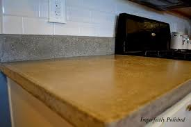 simple kitchen with poured concrete kitchen countertops