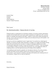 Director Cover Letter Deputy Director Of Nursing Cover Letter Sample Templates
