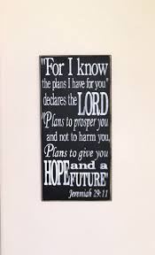 for i know the plans i have for you jeremiah 29 11 painted wooden sign 24 x 12 black chalk paint white lettering hand painted