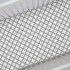 cloud gray moroccan tile crib sheet