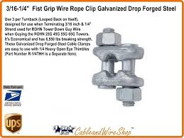 Fist grip cable clamps