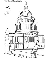Small Picture US Capitol Building Coloring Pages 001