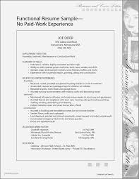 Resume Samples No Working Experience Students Best Of High School