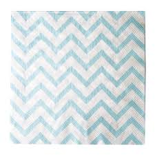 Light Blue Chevron Paper Napkins
