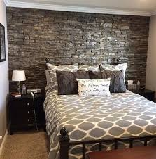 Beautiful Dark Grey Headboard Wall To Make The Bedroom More Refined
