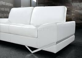 Modern Pull Out Couch Sectional Leather Sofas With Chaise White Bonded Match Modern Sofa