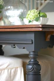 Painted Kitchen Table Refinished Oak Table Base And Chairs Chalk Painted Black Velvet