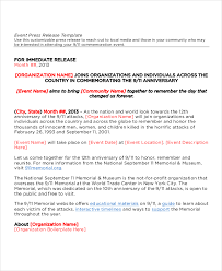 sample press release template sample press release for events ukran poomar co