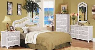 White Wicker Bedroom Furniture White Wash Charming White Wicker