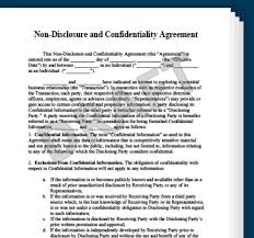 confidentiality agreement template non disclosure confidentiality agreement create an nda