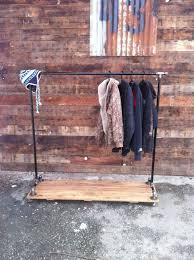 ... Wardrobe Racks, Coat Hanging Rail Clothes Rail Pole Industrial Cas Iron  Pipe Clothing Rack: ...