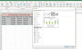Stock Bar Chart Example Make A High Low Close Stock Market Chart In Excel