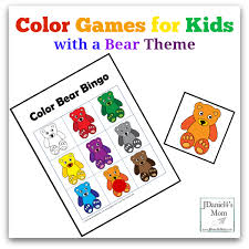 Color Games For Kids With A Bear Theme Facebook Png