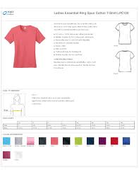 Port And Company T Shirts Size Chart Dreamworks