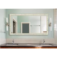 tuscan ivory double vanity wall mirror