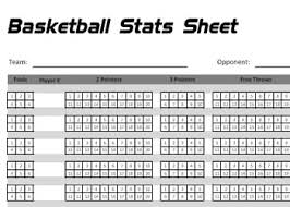 Basketball Score Sheets Printable Basketball Stats Sheet By Basketballxpert Com