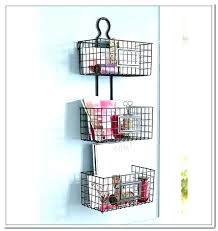 wall basket with hooks wire storage baskets best ideas website mounted