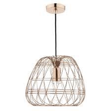 woven 1 light ceiling pendant copper