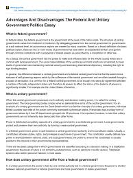 ukessays com advantages and disadvantages the federal and unitary ukessays com advantages and disadvantages the federal and unitary government politics essay federation politics