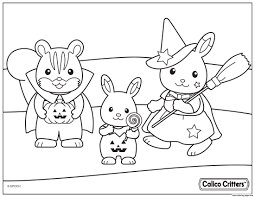 halloween costumes coloring pages calico critters coloring pages calico critters halloween costumes