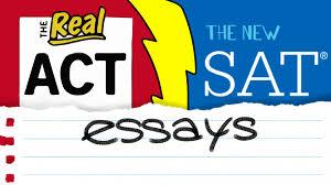 the new act essay vs the new sat essay supertutortv